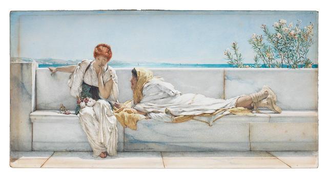 Sir Lawrence Alma-Tadema, OM, RA (British, 1836-1912) A Solicitation