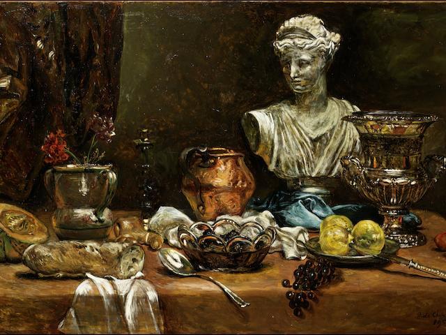 Giorgio de Chirico (1888-1978) Vita silente di oggetti su tavolo (Painted in 1959)