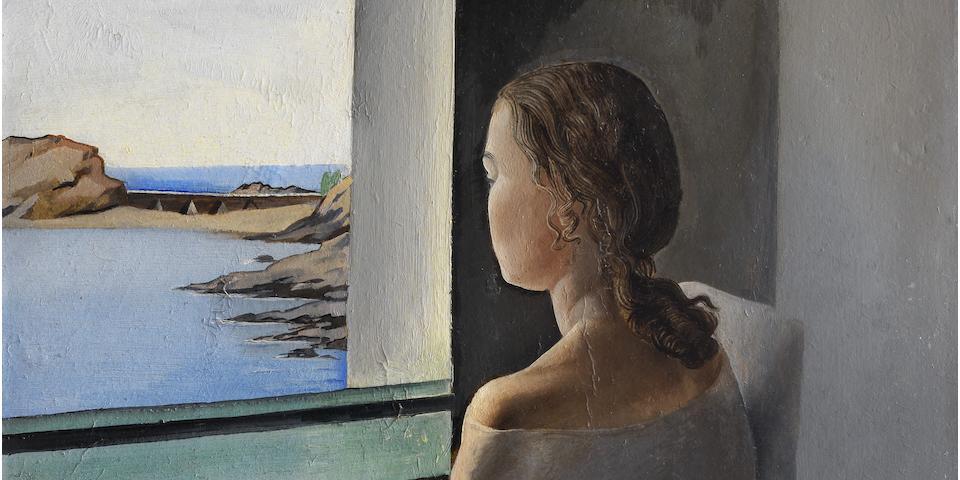Salvador Dalí (1904-1989) Figura de perfil (Painted in El Sortell, Cadaqués, 1925)