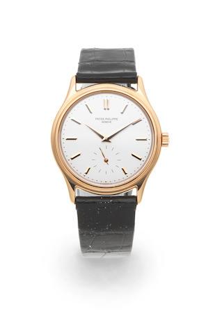 Patek Philippe. An 18K gold manual wind wristwatch  Calatrava, Ref: 3923, Circa 1990