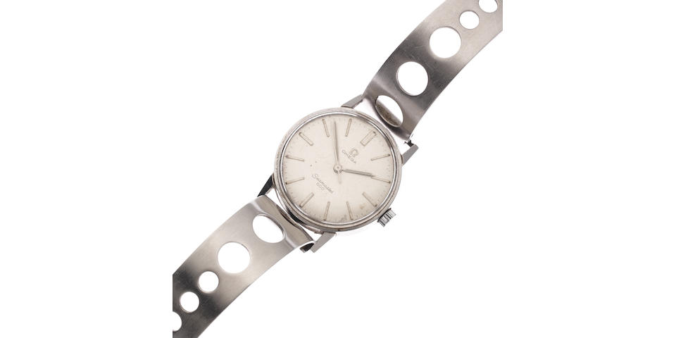 Omega. A stainless steel manual wind bracelet watch  Seamaster 600, Circa 1960