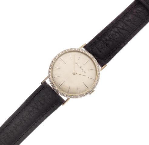 Girard Perregaux. A white gold plated and diamond set manual wind wristwatch Ref: B2140, Circa 1960