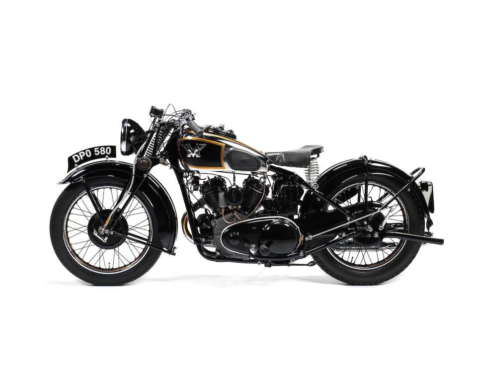 1937 Matchless 1,000cc Model X Frame no. 797 Engine no. 38X 5275