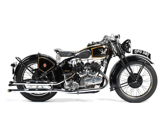 1937 Matchless 1,000cc Model X Frame no. 797 Engine no. 38X 5275
