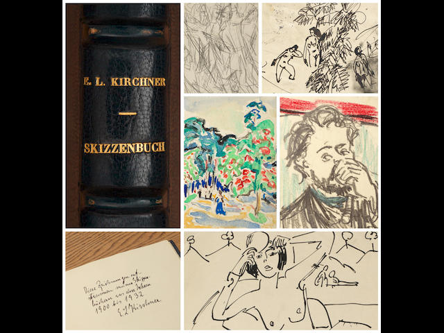 Ernst Ludwig Kirchner (1880-1938) Skizzenalbum: an album compiled by the artist of 40 watercolours and drawings from 1900 - 1932 27x 23.5cm (10 5/8 x 9 1/4in). Album size