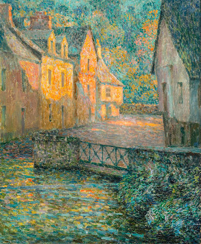 Henri Le Sidaner (1862-1939) Matin doré (Painted in 1920)