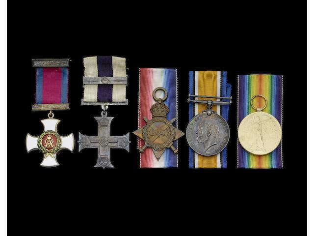 A Great War D.S.O., M.C. and bar group of five to Major H.R.Macintyre, Royal Army Medical Corps,