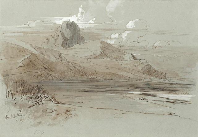 Edward Lear (British, 1812-1888) Pentedattelo, Calabria