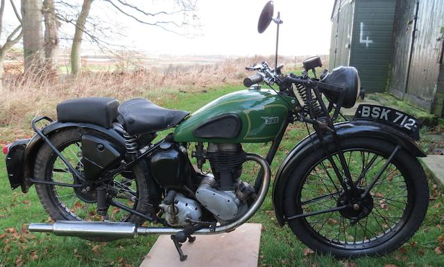 1939 BSA 249cc C11 Frame no. XC10G 38 Engine no. XC1119ZZ