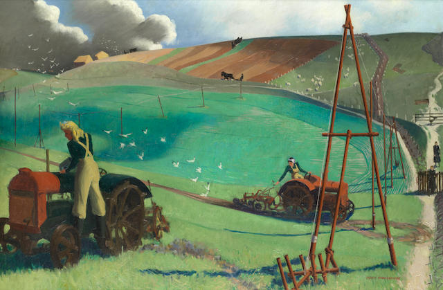 Percy Shakespeare (British, born 1906) 'December on the Downs, Wartime'