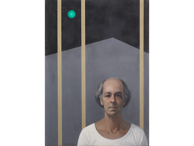Hussein Bicar (Egypt, 1913-2002) The Green Planet (Self-Portrait)
