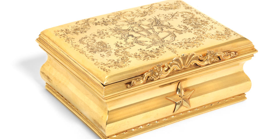 Giuseppe Garibaldi: An Important Gold Freedom Box marked for James Hunt, London 1767, adapted by Hancocks 1864