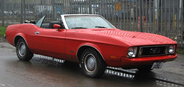 Property of a deceased's estate,1973 Ford Mustang Mach 1 Convertible  Chassis no. 3FO3M122331