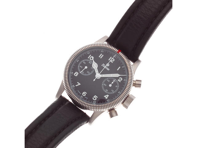 Tutima. A stainless steel manual wind chronograph wristwatch  Flieger Chronograph 1941, Ref: 783-01, Sold 5th July 2011