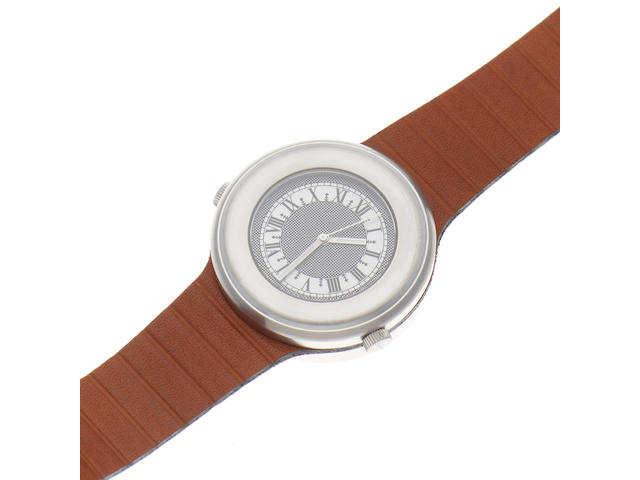 Itay Noy. A stainless steel manual wind dual sided wristwatch  DU-MC, Edition No.33/99, Sold 10th May 2012