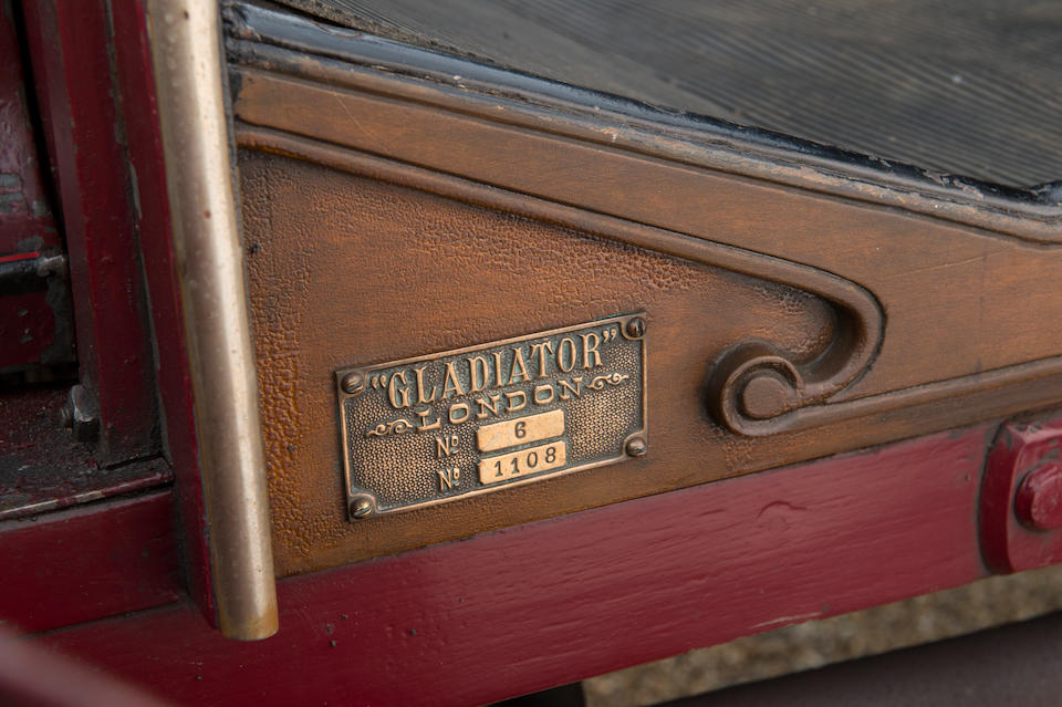 1903 Gladiator 10hp 2-cylinder Rear-Entrance Tonneau  Chassis no. 6-1108