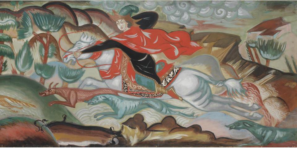 Dmitrii Semenovich Stelletsky (Russian, 1875-1947) 'The Fox Hunt'