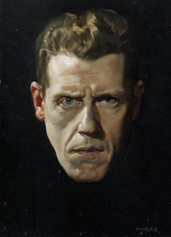 David Jagger R.O.I. (British, 1891-1958) Self Portrait 40.6 x 30.5 cm. (16 x 12 in.) (Painted in 1928)
