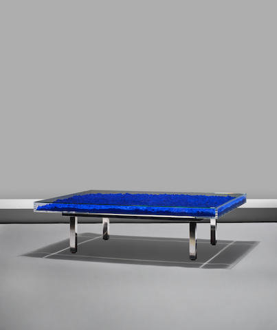 Yves Klein 'Table bleue' designed 1961, this work is part of an edition started in 1963 under the supervision of Rotraut Klein-Moquay