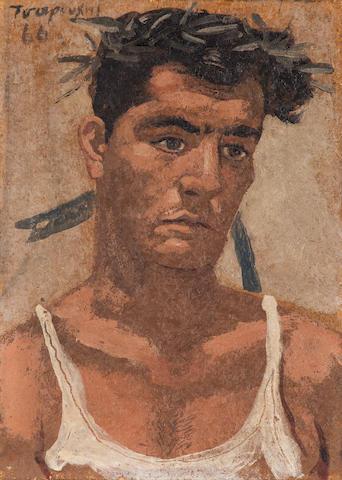 Yiannis Tsarouchis (Greek, 1910-1989) The Olympic champion 18 x 12.5 cm.