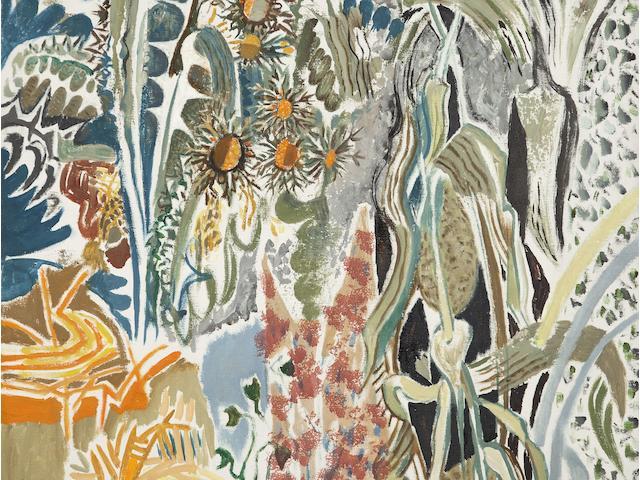 Nikos Hadjikyriakos-Ghika (Greek, 1906-1994) Thorns 81.5 x 65.5 cm.