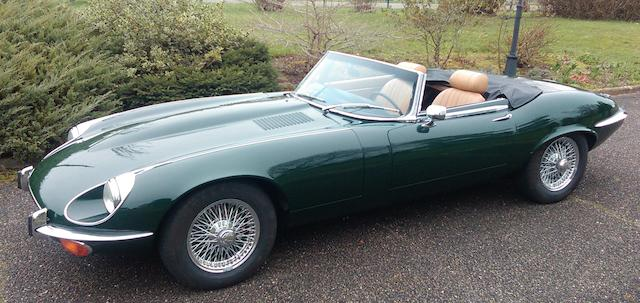 Rare and desirable manual transmission expample,1973 Jaguar E-Type Series III V12 Roadster  Chassis no. UD1S21087 Engine no. 758258LA