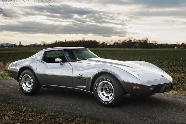 Only 56 miles from new,1978 Chevrolet Corvette '25th Anniversary' Targa-Top Coupé  Chassis no. 1Z87L85439566