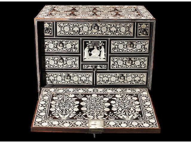 A Mughal ivory-inlaid Cabinet Gujarat or Sindh, circa 1700