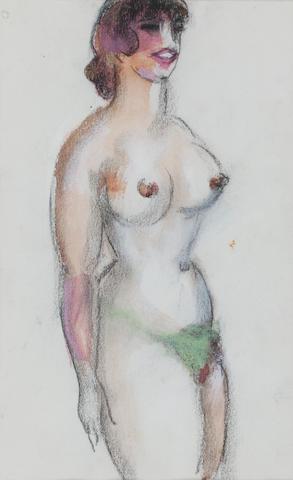 John Duncan Fergusson RBA (British, 1874-1961) Nude 16 x 10cm. (6 5/16 x 3 15/16in.)