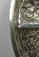 A large silver repoussé decorated box and cover By Tai He, probably Bangkok, 19th century