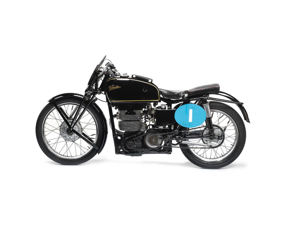 The works, Freddie Frith, 1949 World Championship-winning, 1948 and 1949 Isle of Man Junior TT-winning,1948 Velocette 348cc DOHC KTT Racing Motorcycle Frame no. SF114 Engine no. L.IOM 68560.1046