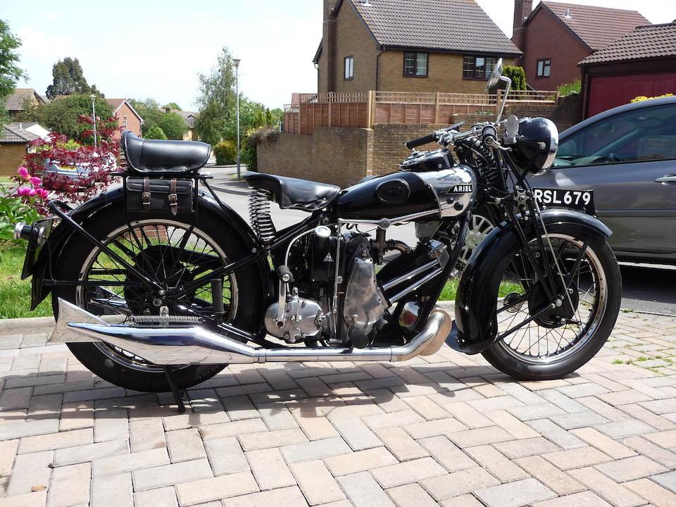 1931 Ariel 499cc Model SF31 'Sloper' Frame no. S1417 Engine no. 1484