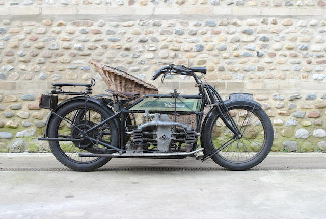 1912 Williamson 964cc 8hp Motorcycle Combination Frame no. to be advised Engine no. to be advised