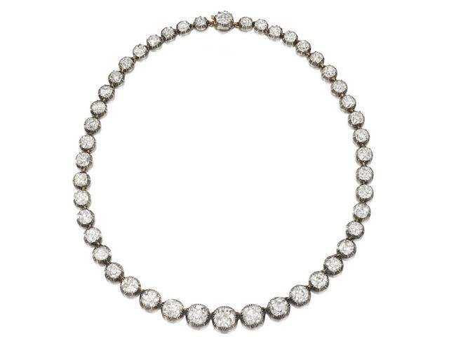 A 19th century diamond riviére
