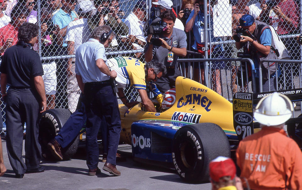 The Ex-Michael Schumacher, Nelson Piquet, Roberto Moreno,Canadian Grand Prix-winning,1991 3.5-litre BENETTON-COSWORTH FORD B191  Chassis no. B-191-02