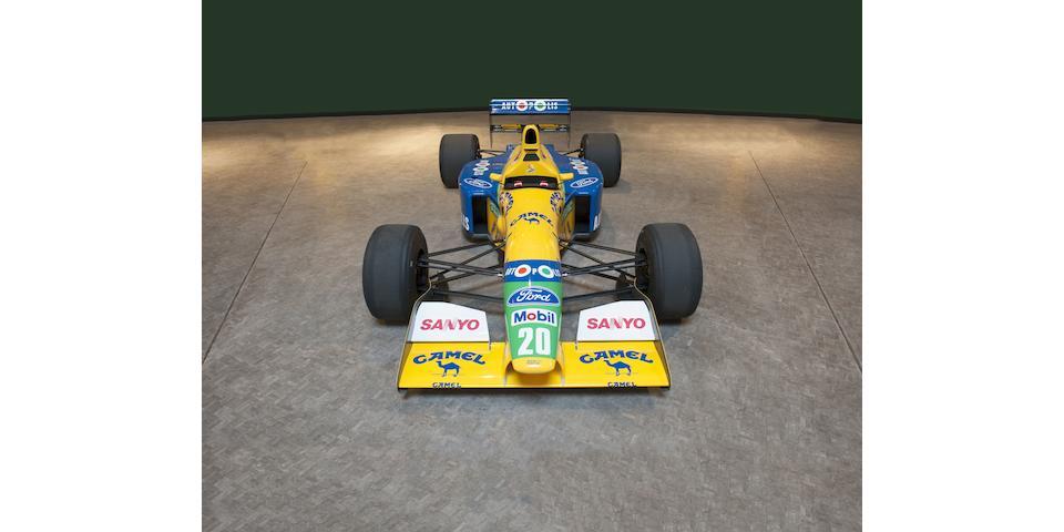 The ex-Canadian 1991 Grand Prix winning, Nelson Piquet, Michael Schumacher ,1991 Benetton B-191-02 Formula 1
