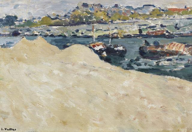 Louis Valtat (1869-1952) Sablières sur les quais de la Seine à Paris (Painted circa 1890)