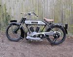 1915 Bradbury 749cc 6hp V-Twin Frame no. 48217 Engine no. 9518