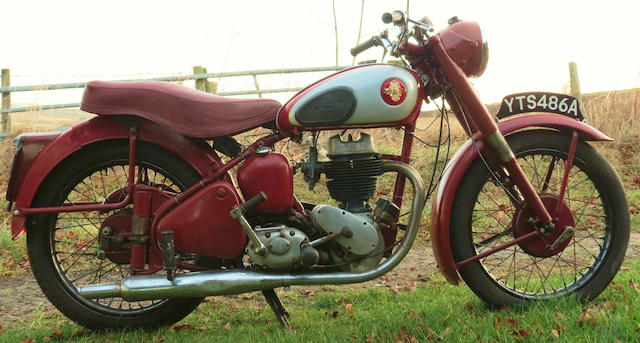 1952 BSA 249cc C11 Frame no. ZC10S 6743 Engine no. ZC11 23134 (see text)