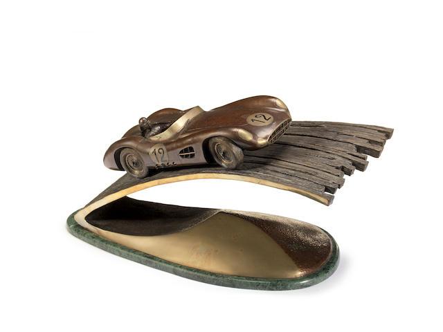 Chris Davis (British), 'Aston Martin DBR1' a limited edition bronze sculpture,