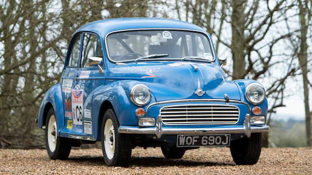 1970 Morris Minor 1000 Rally Car  Chassis no. M/A2S5D1284282M
