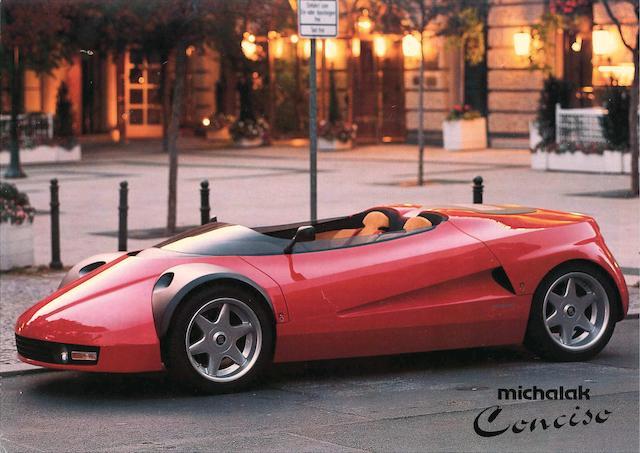 Voiture des salons de Francfort 1993 et de Genève 1994 ,Ferrari  328 Conciso concept car 1989