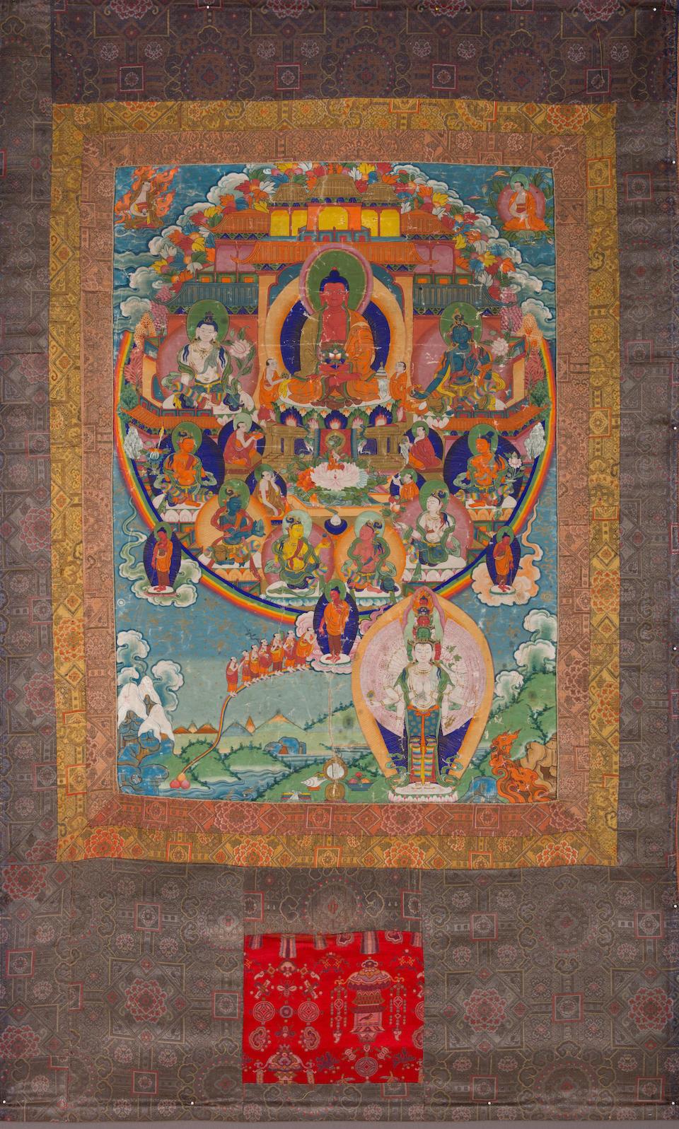A thangka of Amitayus Tibet, 19th century