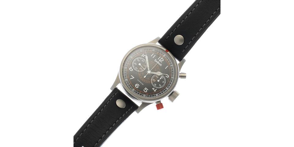 Hanhart. A stainless steel manual wind chronograph wristwatch Circa 1980