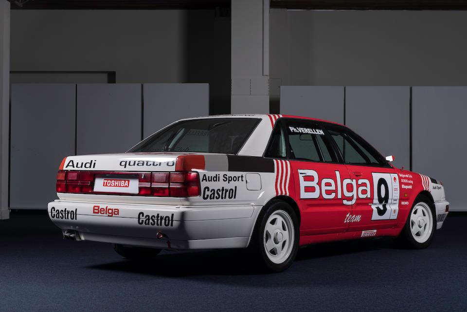 Ex-Philip Verellen, Belgian Procar Championship-winning,1989 Audi V8 Quattro Belga Procar Competition Saloon  Chassis no. WAUZZZ4CZMN002853