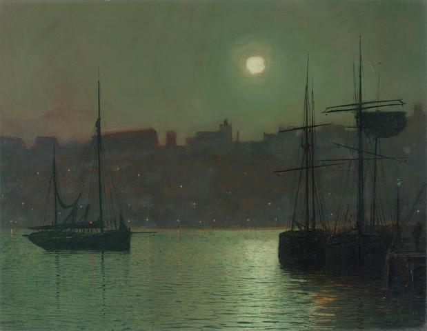 John Atkinson Grimshaw (British, 1836-1893) Old Scarborough