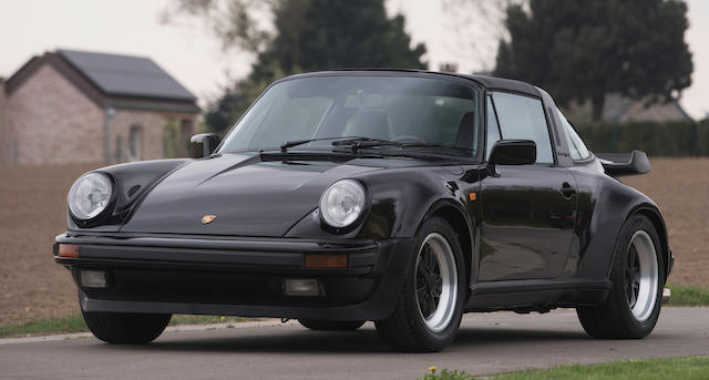 One of only 3 examples delivered new to the Gulf States (EU-specifications),1989 Porsche 911 Type 930 Turbo Targa 5-speed G50 gearbox  Chassis no. WPOZZZ93ZKS010076 Engine no. 67K00303