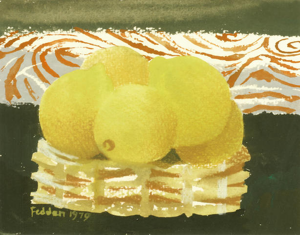 Mary Fedden R.A. (British, 1915-2012) Lemons in a bowl