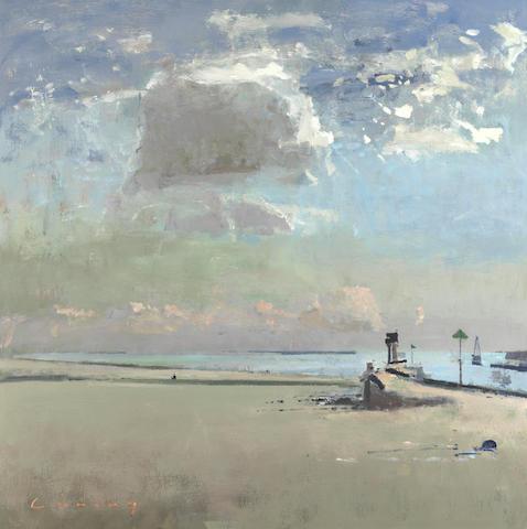 Frederick Cuming RA NEAC (British, born 1930) Rye harbour entrance