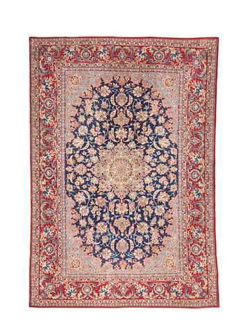 An Isfahan Carpet  Central Persia,   216cm x 147cm
